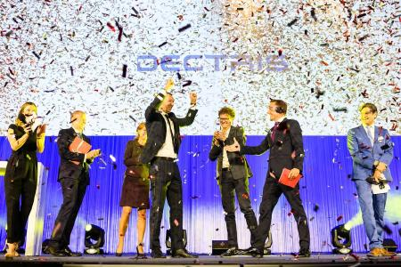 CEO Dr. Christian Broennimann in the winning moment