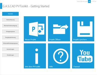plan4 PVToolKIT Start Screen