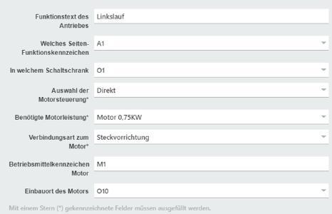Über Mini-Konfiguratoren – hier am Beispiel einer Motorsteuerung – wählt der Anwender entsprechende Parameter aus und Eplan Cogineer generiert die korrekte Steuerung / Quelle: Eplan Software & Service GmbH & Co. KG