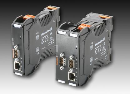 : Weidmüller WaveLine ComServer: Ethernet auf RS232/485/422 Konverter. Geräte mit seriellen Schnittstellen werden einfach und unkompliziert in die bestehende Netzwerkstruktur eingebunden