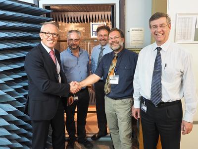 Die neue Prüfeinrichtung im EMV-Labor von HBM Test and Measurement für mehr Produktsicherheit