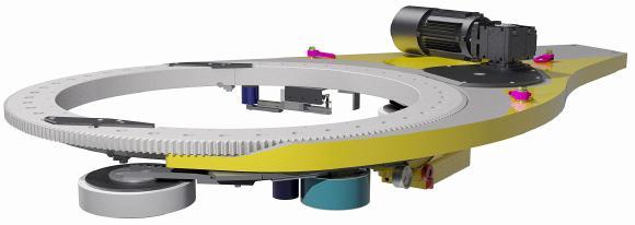 CAD-Detail des Umwicklungssystems mit dem von KOHLS zum Patent angemeldeten Bremssystem, Bildnachweise: KOHLS Maschinenbau GmbH