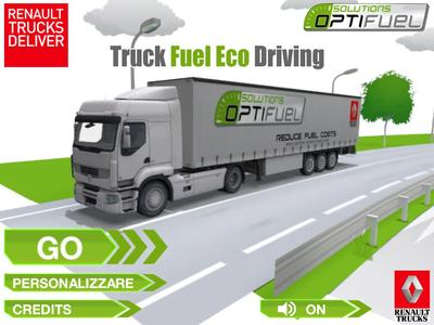 Der Truck Fuel Eco Driving-Simulator von Renault Trucks vermittelt spielerisch die Grundlagen kraftstoffsparende Fahrens