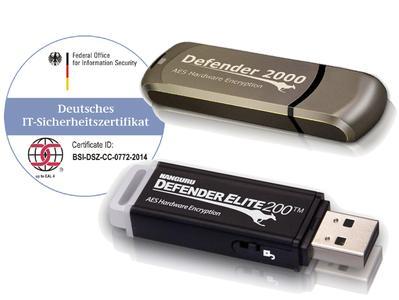 BSI-zertifizierte USB-Sticks Kanguru Defender
