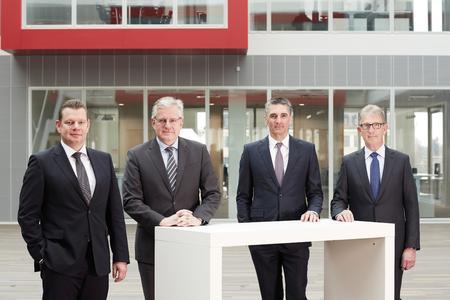The Executive Board of Knorr-Bremse AG: Dr. Peter Laier, Dr. Lorenz Zwingmann, Klaus Deller, Dr. Dieter Wilhelm (from left).