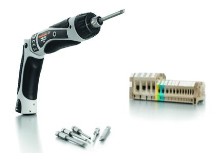 Weidmüller DMS Pro cordless screwdriver: Battery screwdriver with automatic torque limitation and high repeat accuracy for each screw connection
