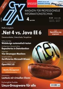 Das Titelbild der aktuellen iX-Ausgabe 4/2010