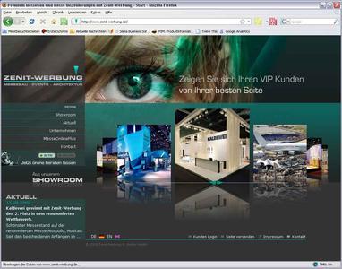 Mit dem neuen Corporate Design beweist die ZENIT-WERBUNG GmbH, dass sie sich auch selbst exzellent in Szene setzen kann.