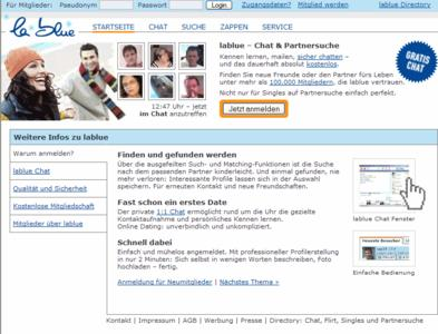 Das Dating-Portal lablue.de
