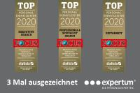 expertum ist top personaldienstleister 2020