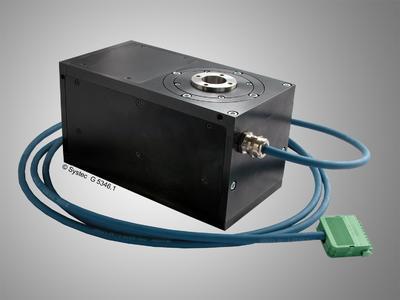 Das elektrische Drehmodul M1R-M1 rotiert Objekte mit bis zu 720 Grad pro Sekunde bei einer Genauigkeit von 0,1 Grad
