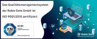 Qualitätsmanagementsystem der Robin Data GmbH ist erfolgreich ISO 9001:2015 zertifiziert