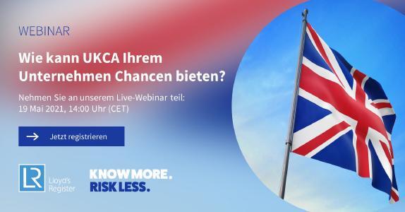In unserem Webinar möchten wir Ihnen die UKCA vorstellen und möglichst viele Ihrer Fragen beantworten. Am Ende des Webinars sollten Sie eine Vorstellung davon haben, welche Chancen sich für Ihr Unternehmen mit einer UKCA-Kennzeichnung bieten.