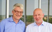 Bodo Herlyn (l.) übergibt die Geschäftsleitung an Jörg Ruff (r.)