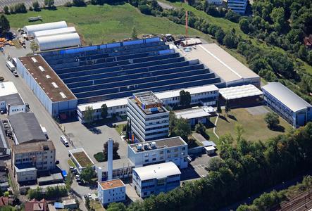 Der nach ISO 14001 zertifizierte GEZE Firmensitz in Leonberg