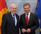 Bundeswirtschaftsminister Rainer Brüderle mit EU-Energiekommissar Günther Oettinger, (Foto: BMWi)