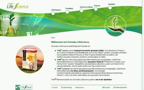Internetauftritt Dr. Willmar Schwabe / Life Science