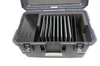Koffer für mobile Endgeräte mit separatem Eklektronikfach