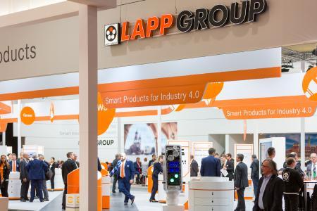 Gut besucht: Der Stand der Lapp Gruppe auf der Hannover Messe 2017