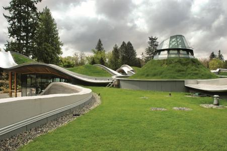 "VanDusen Botanical Garden in Vancouver, ZinCo system build-up ""Steep Pitched Green Roof"". Photo: ZinCo"