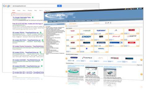 Die 3D-Bauteilbibliothek TracePartsOnline.net beinhaltet mittlerweile über 2,4 Millionen bei Google indexierte Seiten.