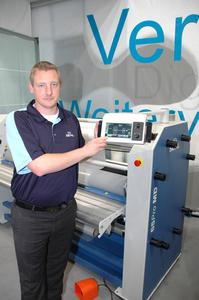 "Marc Hansing, Technical Services Manager at finishing and laminating specialist Seal, explained the massive  advantages of the new control unit at the Viscom in Frankfurt: ""Our Easy Operator Interface makes working with this wide- format laminator really easy. The EOI is a state-of-the-art touch screen control panel which grants the operator ultima"