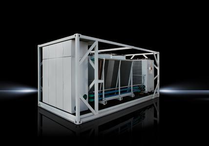 Mit dem neuen Kältecontainer erweitert Rittal sein modulares, standardisiertes Rechenzentrum RiMatrix S. Er arbeitet vorrangig mit indirekter freier Kühlung und erzielt dadurch eine besonders hohe Energieeffizienz mit einem PUE von bis zu 1,15, Quelle Rittal GmbH & Co. KG
