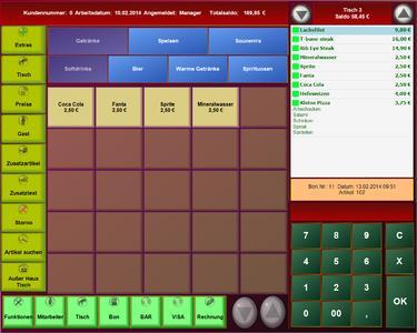 Kassensoftware Tablet im Metro Design