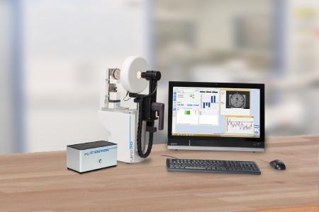 Das Messuhren- und Feinzeigerprüfgerät mit Bildverarbeitung MFP 30 BV verfügt über USB3-Kamera und Quarzglasmaßstab sowie über LED-Leuchten und Belüftung zur Verbesserung des Temperaturverhaltens