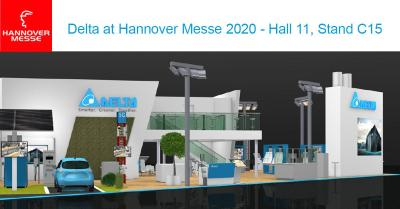Delta Previews the Energy-Efficient Solutions for Manufacturing, Infrastructure, and Buildings at Hannover Messe 2020