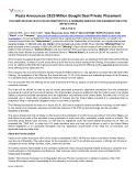 [PDF] Press release: Vizsla Announces C$25 Million Bought Deal Private Placement