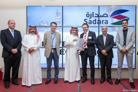 Testlauf der Superlative: Auszeichnung für Softwarespezialist inconso und Anlagenexperte Coperion durch Sadara Chemical Company