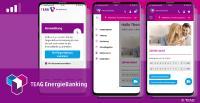 Die neue EnergieBanking App der TEAG bietet Komfortfunktionen mit Fingerabdruck und Gesichtserkennung - ITC ist technischer Dienstleister