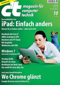 Das Titelbild der aktuellen c't-Ausgabe 10/2010
