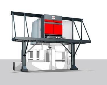 Speziell für die klebrigen Aerosole beim Druckgießen wurde der elektrostatische Abscheider eLine entwickelt