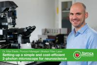 Setting up a simple and cost-efficient 2-photon microscope for neuroscience