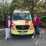 ICW-Wundexperte Mirko Mau und Fahrer Daniel Giertz sind bereits seit dem 04. Mai auf den Straßen von Schleswig-Holstein und im Großraum Hamburg unterwegs, um Wundpatienten zu versorgen.