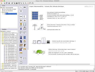 Surface d'entrée Polysun avancée, avec la possibilité de définir des profils de mobilité libres (présence à la station de chargement, trajets réguliers, etc.)