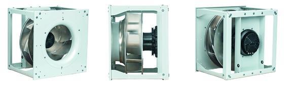 Die neuen Radialventilatoren RadiPac sind effizient beim Platz- und Stromverbrauch (Bild: ebm-papst Mulfingen)