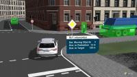 Innerstädtisches Szenario in einer Closed-Loop-Simulation für automatisierten Verkehr, Grafik: JPG Automotive GmbH