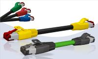 RJ45 Industrial Ethernet Patch cord AWG22 & Patch cord with coloured overmould (AWG26)