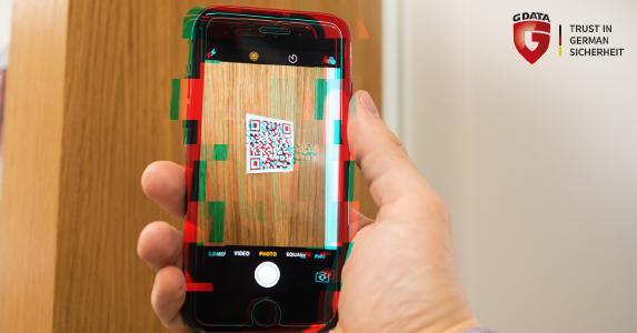 G DATA Mobile Internet Security iOS mit integriertem QR Code Scanner schützt vor gefährlichen Downloads.