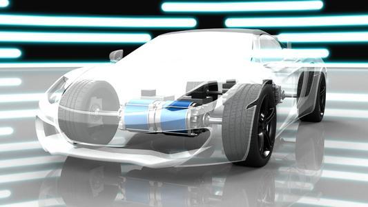 Das Wirkungsgradfeld eines Hochleistungsmotors bei verschiedenen Belastungen