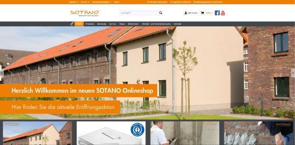 Zielgruppenorientiert und klar strukturiert ist der neue Internetauftritt von Sotano. Kooperationspartner aus der Baubranche und private Heimwerker finden hier eine Vielzahl von Lösungen für Sanierungen im und am Haus. Screenshot: SOTANO, Hemer
