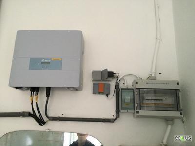 Delta RPI H5A solar inverter installed in Middelkerke