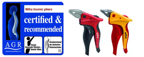 The ergonomic handling offered by Wiha's Inomic pliers enables users to work for longer whilst protecting muscles