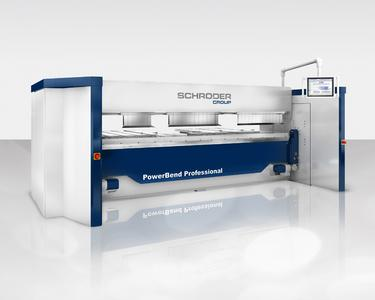 Schwenkbiegemaschine PowerBend Professional mit Up-and-Down-Technologiepaket / Bildquelle: Schröder Group
