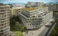Abb. 2: Das siebengeschossige Büro-und Geschäftsgebäude hat eine Nutzfläche von 23.255 Quadratmetern. (Foto: HRS Real Estate SA)