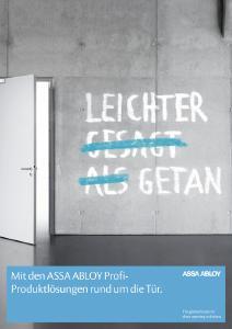 Die Systeme und Lösungen von ASSA ABLOY erleichtern Handwerkern die tägliche Arbeit rund um die Tür / Foto: ASSA ABLOY Sicherheitstechnik GmbH