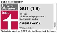 Stiftung Warentest: Testsieg für ESET Mobile Security